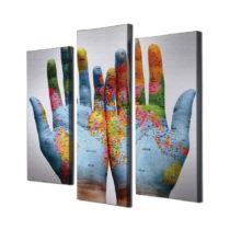 3-dielny obraz na plátne Mundos