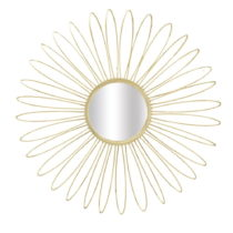 Nástenné zrkadlo v zlatej farbe Mauro Ferretti Daisy