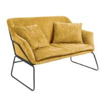 Žltá dvojmiestna pohovka Leitmotiv Glam