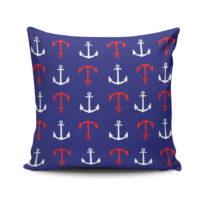 Vankúš s výplňou Anchor Navy, 45x45&#x...