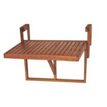 Balkónový závesný stôl z eukalyptového dreva A...