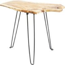 Odkladací stolík s doskou z jedľového dreva Kare Design Art Fac...