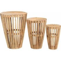 Sada 3 príručných stolíkov z mangového dreva St&#x...