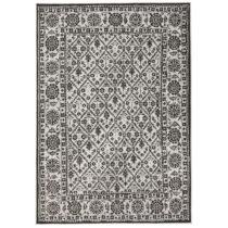 Čierno-biely vzorovaný obojstranný koberec Bougari Curacao, 120 x 170 cm