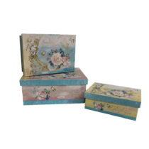 Sada 3 škatuliek Antic Line Blue Vintage