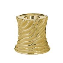Keramický svietnik v zlatej farbe InArt Votive, ⌀10 cm