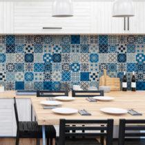 Sada 60 nástenných samolepiek Ambiance Wall Decal Cement Tiles Azulejos Caralinera...