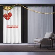 Vianočný záves Happy Holiday, 140 x 260 cm