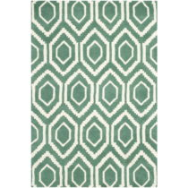 Zelený vlnený koberec Essex 121×182 cm
