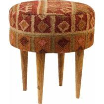 Červená vzorovaná stolička z mangového dreva St&#...