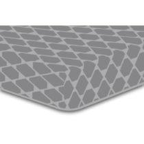 Sivá elastická plachta so vzorom DecoKing Rhombuses, 160×&#...