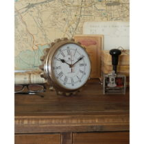 Stolové oceľové hodiny Orchidea Milano Mattia, ⌀ 20 cm