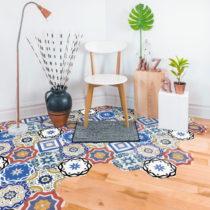 Sada 10 samolepiek na podlahu Ambiance Floor Stickers Hexagons Salvatore, 40×&...