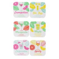 Sada 6 podtáciek Le Studio Cocktails Coasters