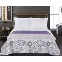 Bielo-fialový obojstranný pléd z mikrovlákna DecoKing Alhambra, ...