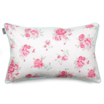 Mentolovozelená obliečka na vankúš WeLoveBeds Roses, 40 &#...