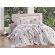 Bavlnená prikrývka cez posteľ na dvojlôžko Single Piq...
