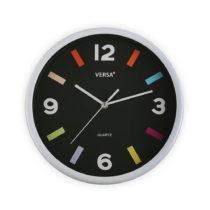 Biele nástenné hodiny Versa Moderna Black