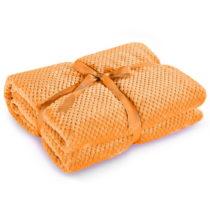 Oranžová deka z mikrovlákna DecoKing Henry, 220×&...