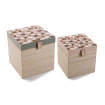 Sada 2 štvorcových úložných škatuliek VERSA