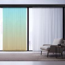 Zeleno-tyrkysový záves Curtain Latta, 140×260 cm
