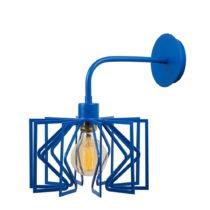Modrá nástenná lampa Radius Drop
