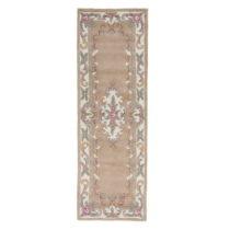 Vlnený behúň Flair Rugs Lotus Aubusson Fawn Aladin, 67 x 210 cm