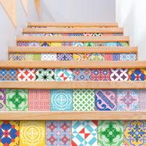 Sada 60 dekoratívnych samolepiek na stenu Ambiance Colorful, 15×&#xA...