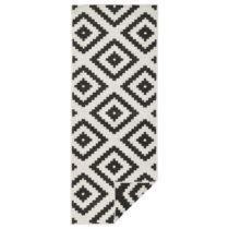 Čierno-krémový vzorovaný obojstranný koberec Bougari M...