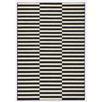 Čierno-biely koberec Hanse Home Gloria Panel, 80 x 200 cm