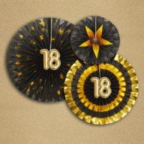 Sada 3 papierových dekorácií Neviti Glitz & Glamour 18 Goldie