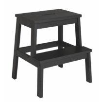 Čierna dubová stolička/schodíky Folke Nanna