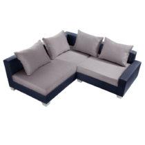 Modro-sivá sedačka Interieur De Famille Paris Aventure, ľavý r...