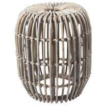 Svetlohnedý ratanový odkladací stolík RGE Venus, ⌀ 77...