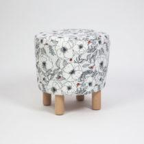 Taburet s drevenými nohami Cono Mariquita, ⌀ 41 cm
