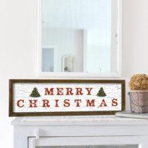 Obraz v ráme z borovicového dreva Very Merry Christmas, 25 x 50 cm