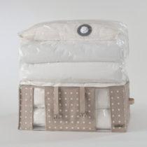 Béžový úložný box s vákuov&#xFD...