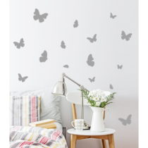Sada 16 dekoratívnych samolepiek s motívom motýľov, 100&#xA...