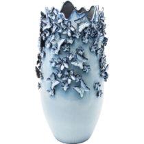 Modrá váza Kare Design Butterflies, 50 cm