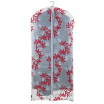 Červeno-biely obal na šaty Domopak Living, dĺžka 135 cm