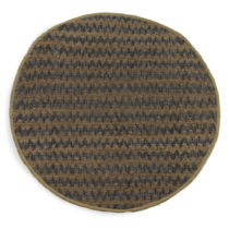 Modro-hnedý koberec Geese Mumbai, Ø 120 cm