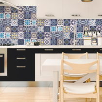 Sada 12 nástenných samolepiek Ambiance Wall Decals Tiles Azulejos Janeiro, 20&...