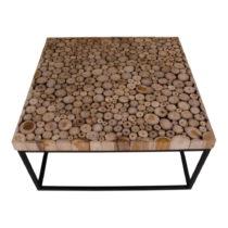 Čierny konferenčný stolík z teakového dreva House Nor...