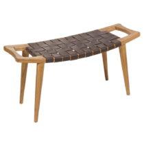 Stolička z dreva mindi s výpletom z hovädzej kože Santiago Pon...