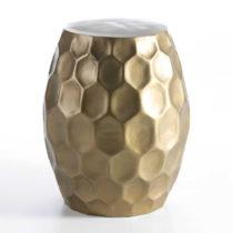 Stolička v zlatej farbe Thai Natura, ⌀46 cm