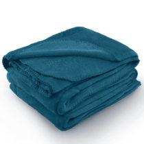 Indigovomodrá deka z mikrovlákna AmeliaHome Tyler, 220 × 240 cm