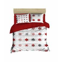 Sada obliečky a plachty na dvojposteľ Christmas Snowlakes Red, 200&...