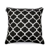 Čierno-biela obliečka na vankúš WeLoveBeds Clover, 60 &#x...