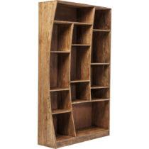Asymetrická knižnica z akáciového dreva Kare Design Retangollo,...
