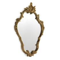 Nástenné zrkadlo v zlatej farbe Geese Baroque, 58 × 80 cm